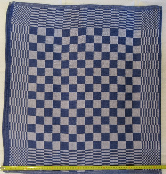 KEUKENHANDDOEKEN | HORECA | 65x65cm | CHESS BLAUW
