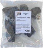Aquarium stenen - Zwart 40-80 mm - 7 Unieke stenen in een zak
