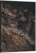 Dibond –Stenen tussen Rotsen– 30x40cm Foto op Aluminium (Wanddecoratie van metaal)