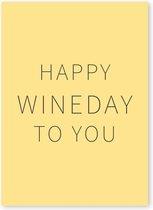 Kaart met wijn quotes – Set van 4 kaarten - Happy Wine Cards – Happy wineday to you