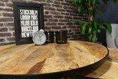 Boxer salontafel industrieel set van 2 – Mangohout en staal – Twee tafels variërend in grootte