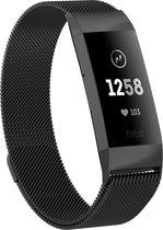Milanees bandje - Fitbit Charge 4 Bandje - Zwart - Athletix