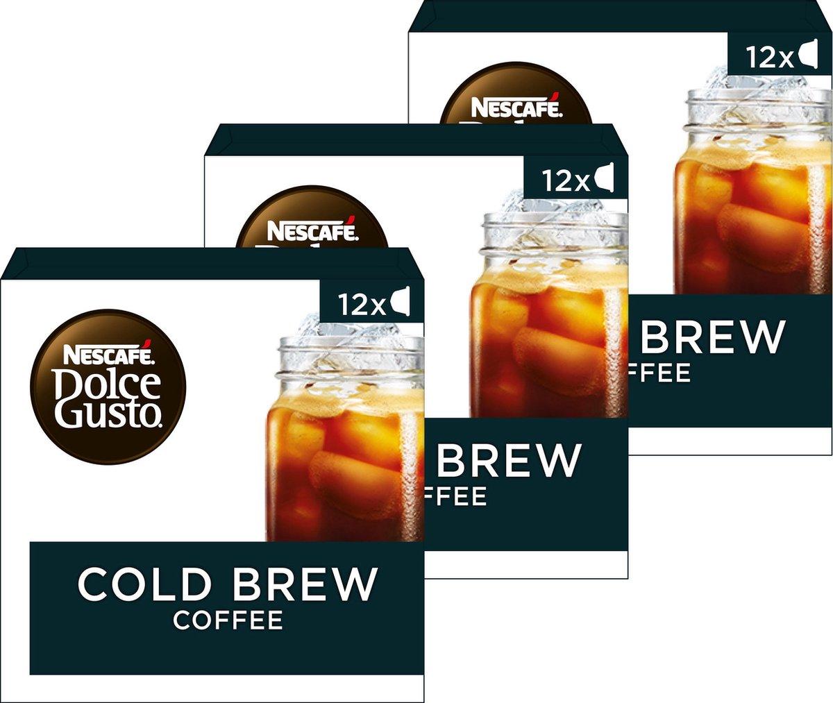 Nescaf  Dolce Gusto capsules Cold brew - ijskoffie - 36 koffiecups - geschikt voor 36 koppen koffie