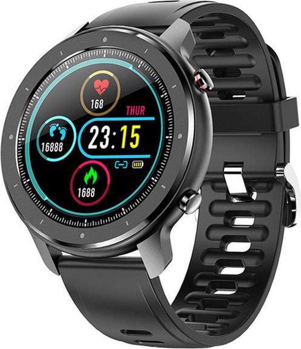 Belesy® Modern - Smartwatch - Horloge - 1.28 inch - Kleurenscherm - Full Touch - Zwart - Siliconen kopen