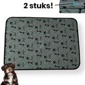 Jooba® Wasbare puppy pads 2 Stuks - Puppy training pads - Hondentoilet - Zindelijkheidstraining - 70x50cm - Absorberende mat - Puppy