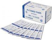 100 Comed Pads 60x30mm - 100x alcohol pads - Alternatief handgel- Alcohol doekjes 100 stuks - desinfectie doekjes - Reinigingsdoekjes voor beeldscherm, tablets, brillen, handen -Steriel - desinfecterende doekjes