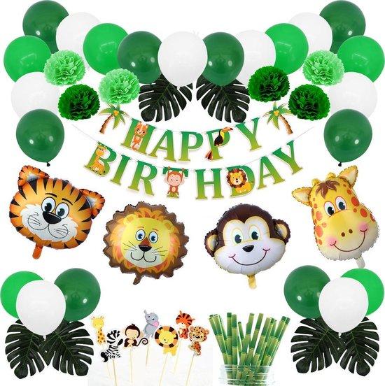 Jungle Thema Ballonnen - Verjaardag Versiering - Safari Feestje - Kinderfeestje - Helium
