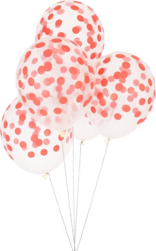 My Little Day - Ballonnen - Bollen rood - set 5 - 30cm