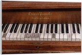 Plexiglas –Oude Piano– 120x80 (Wanddecoratie op Plexiglas)