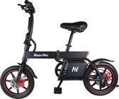 MoovWay E-Bike - Elektrische Fiets - vouwfiets- trapondersteuning fiets - 14inch -Zwart