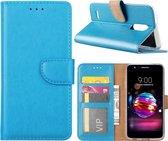 LG K11 2018 - Bookcase Turquoise - portemonee hoesje