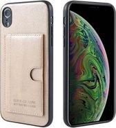 GSM-Basix Hard Backcover Card Bag voor Apple iPhone X/XS Goud