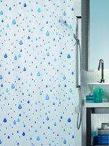 Spirella Waterdrop - Douchegordijn - Blauw - Vinyl - 200 x 180 cm