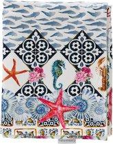 Cottonbaby wiegdeken sealife tricot multicolor voering velours 75x95 cm