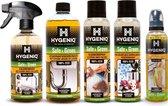 HYGENIQ Probleemoplossende schoonmaakmiddelen combipack - veilig & groen - Kalkreiniger - keukenafvoerreiniger - vlekkenspray - nare geurtjes verwijderaar - Inkt & graffiti reiniger