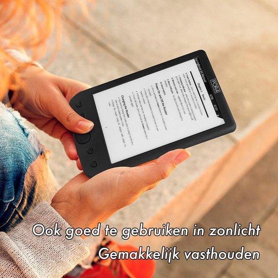Simple E-INK E-Reader – Hoge Resolutie & Groot Beeldscherm & Schermverlichting + Hoesje & adapter – 8GB - Zwart – E-Book Reader – 6 inch - Pora