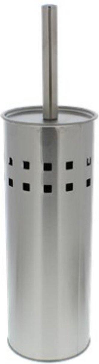 RVS Toiletborstel in houder - Toiletborstelhouder - Wc borstel Roestvrijstalen borstel met houder