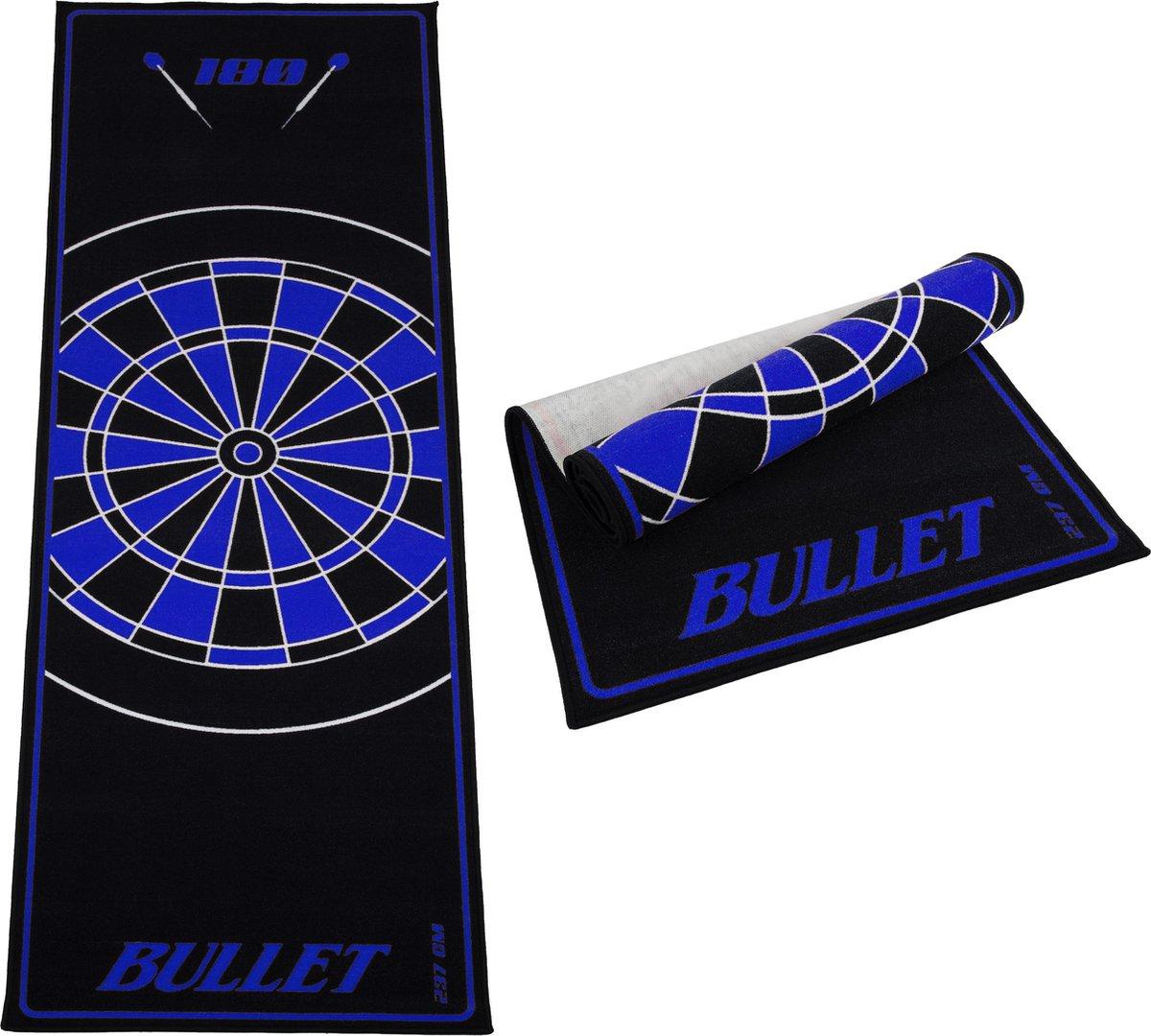 Dragon darts - dartmat - Bullet blauw 237x80 cm - dart mat - dart vloerkleed