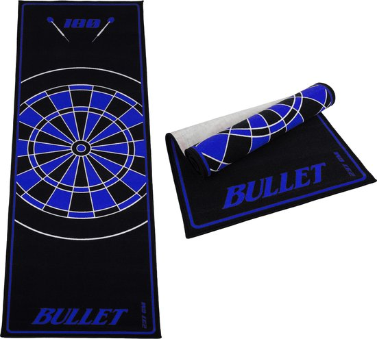 Dragon darts - dartmat - Bullet blauw 237x80 cm - dart mat – dart vloerkleed
