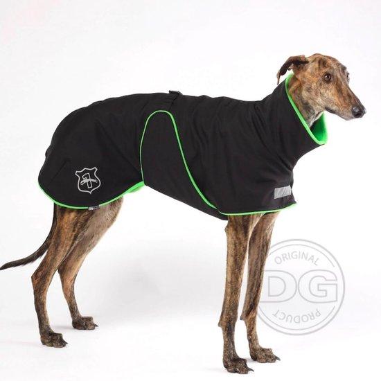 DG - Softshell® Waterdichte Hondenjas - Plus Jacket - Zwart Groen - Maat 14 (DGM2) - 15-30kg