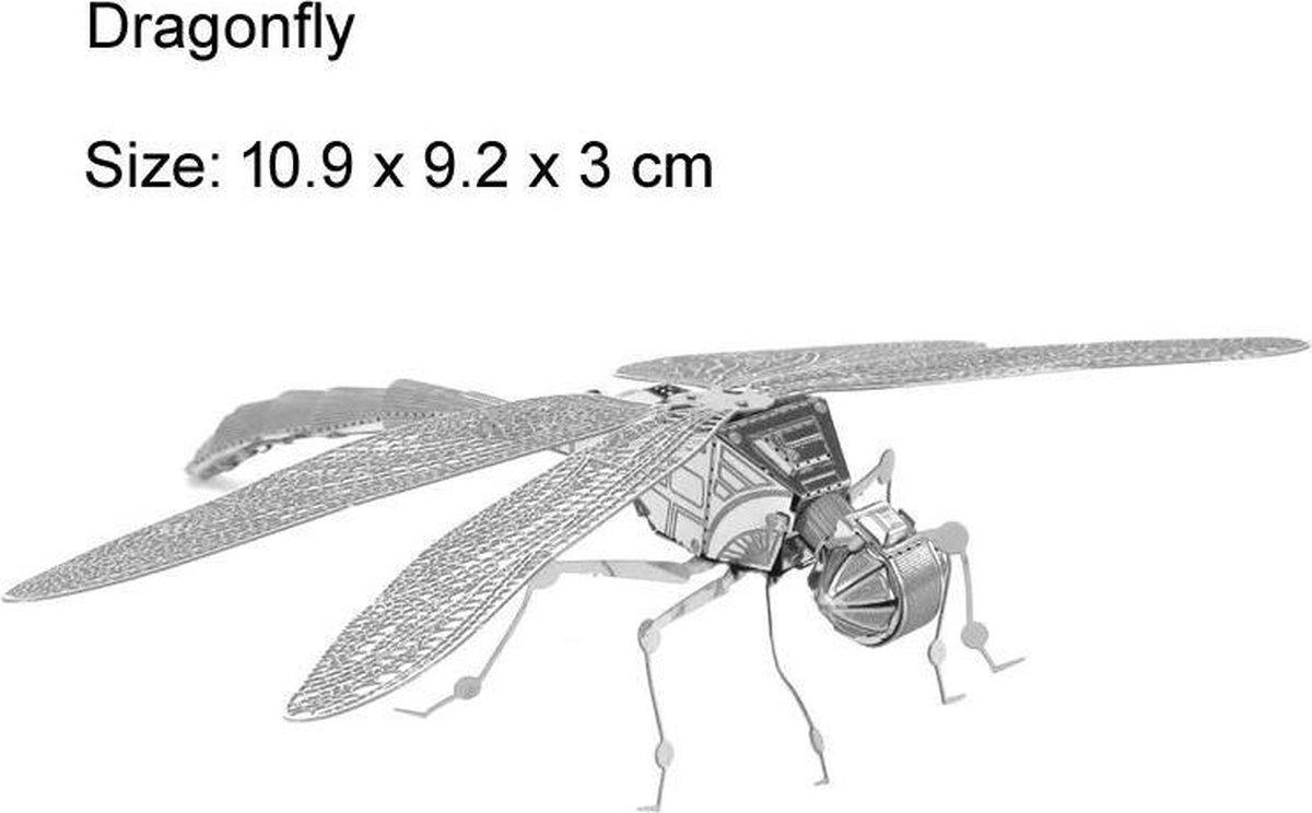 3D puzzel - Dragonfly - Libel - metaal