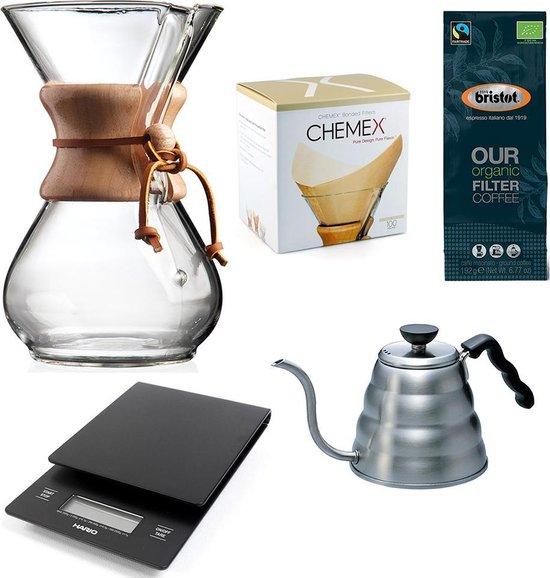 Chemex Coffeemaker slow coffee starter kit 6-Kops