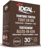 Ideal textielverf bruin - 350 gram - Wasmachine - Alles in 1 - 30ºC  - Handwas - Tie Dye - Eenvoudig en milieuvriendelijk in gebruik