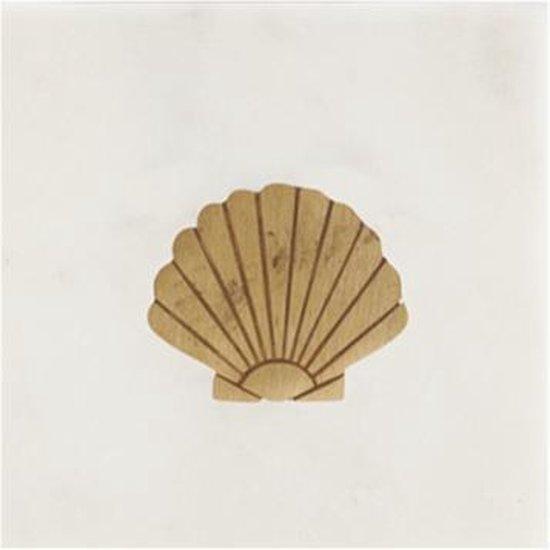 À la collection | Marmeren onderzetter met schelp van brass | Goud