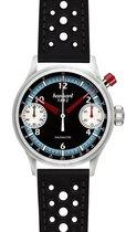 Hanhart Racemaster GTM Horloge blauw, zwarte band