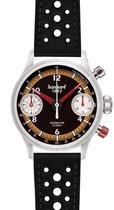 Hanhart Racemaster GTF Horloge oranje, zwarte band