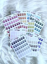 Mimi Mira Creations Functional Planner Stickers Coffee Cups Set 6