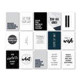 Moodz Set kaarten 'Teksten en quotes' - A6 - 15 stuks