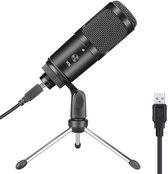 Microfoon voor pc - Microfoon usb - Gaming microfoon - Ingebouwde geluidskaart van hoge kwaliteit - Regelbaar volume - Zwart