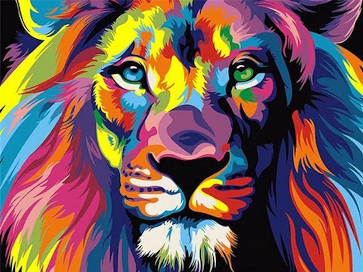 Schilderen op nummer Leeuw kopen