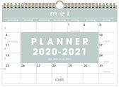 School maandkalender Basic Hobbit schoolplanner A4 D1 2020 - 2021 (formaat A4) licht blauw