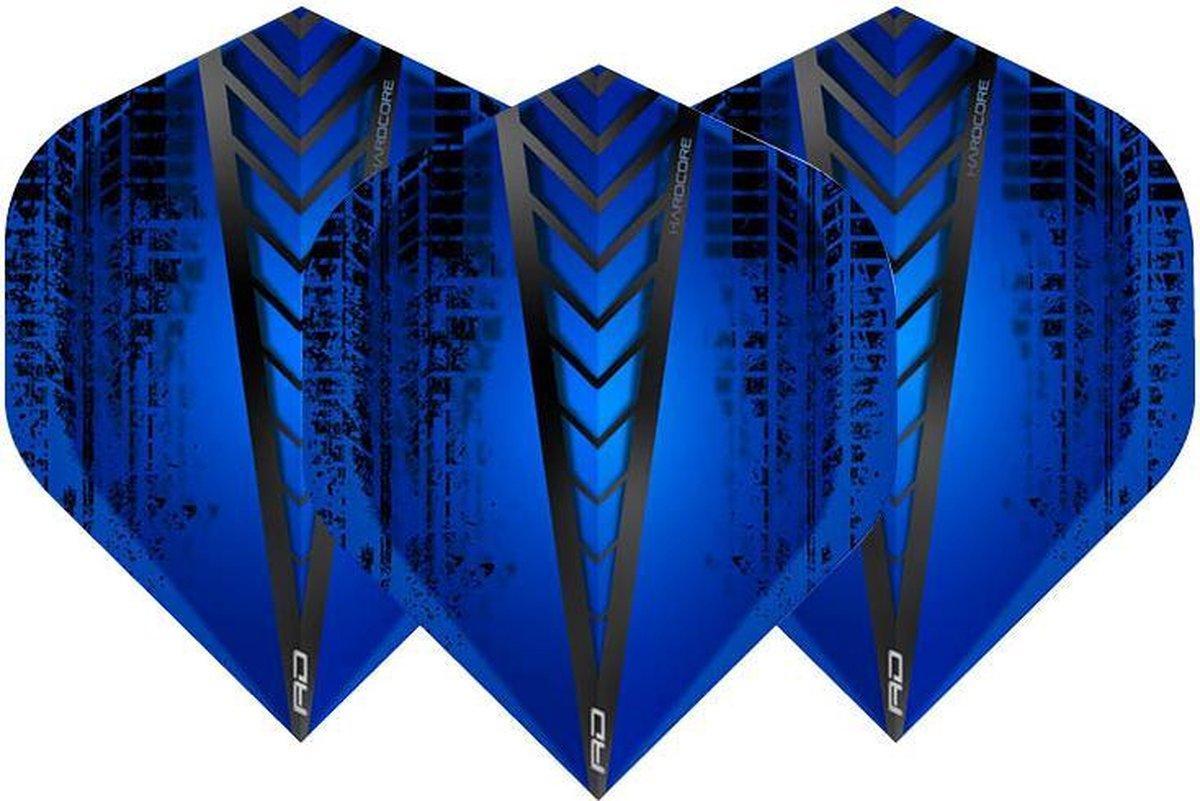 RED DRAGON - Hardcore Radical Blauw extra dikke dart vluchten - 4 sets per pakket (12 dartvluchten in totaal)
