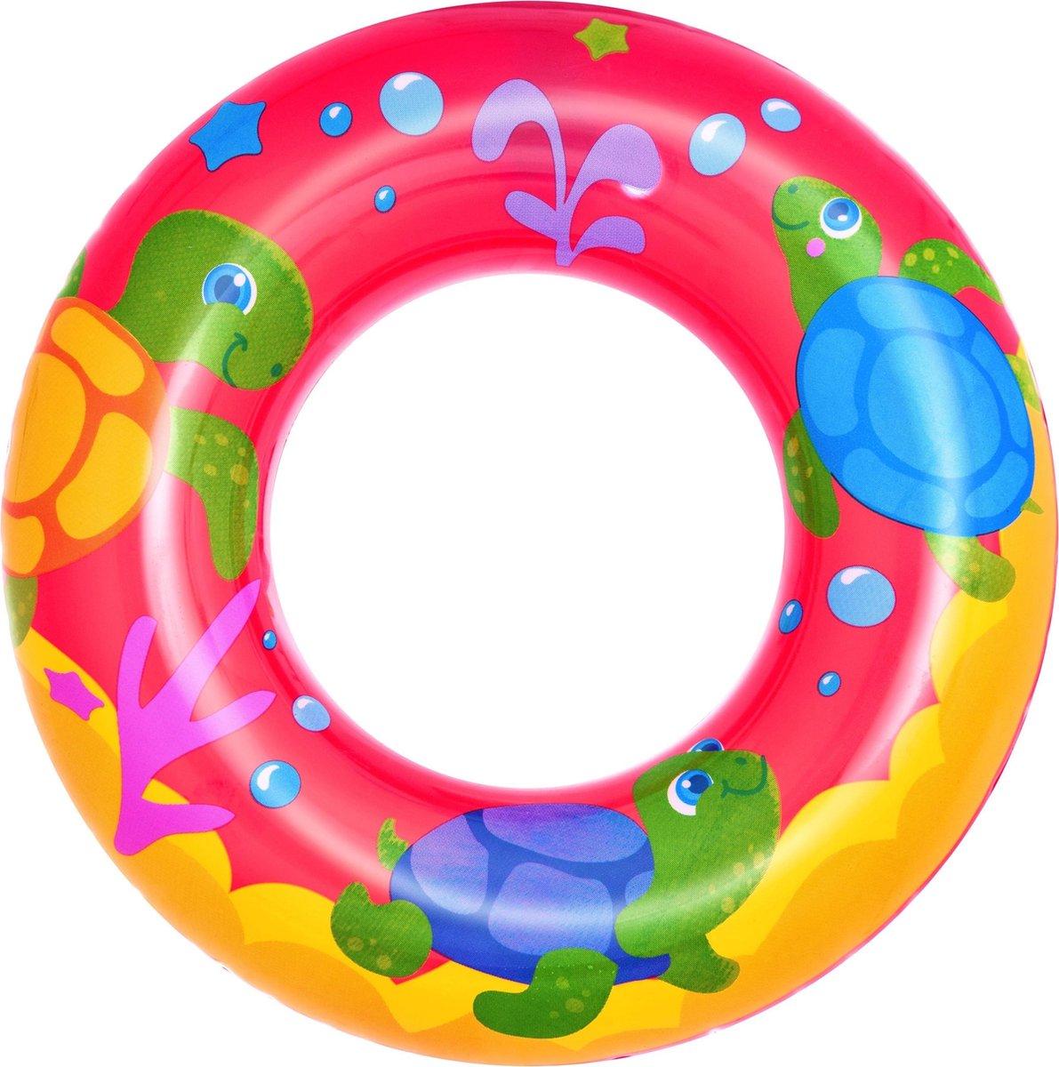 Rode zeedieren zwemband 51 cm - Zwembenodigdheden - Zwemringen - Zee/oceaan thema - Zeedieren zwembanden voor kinderen