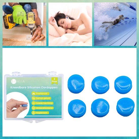 SIMIA™ Premium Siliconen Vormbare Oordoppen - Slapen - Tegen Geluidsoverlast en Snurken - Waterdicht - Oordopjes - Oorbeschermers - Anti Noise Earplugs - Gehoorbescherming - 6 Stuks