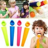 Siliconen Waterijs Vormen (Set 4 Stuks) - Icelolly Pop – IJslolly – IJsvormpje - IJsstokjes - Zelf IJs Maken – Popmaker – Ice Molds – Calippo IJs