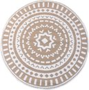 Buitenkleed - Rond vloerkleed - Creme - Vloerkleed - Tuindecoratie  - 150x150cm