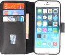 Bestcases Handmade Leer Booktype Telefoonhoesje iPhone SE 2020 - iPhone 8 - iPhone 7 - Zwart