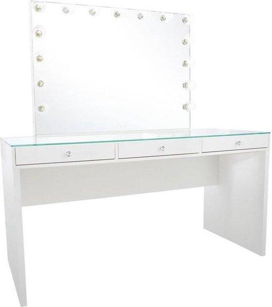 Wonderbaar bol.com   Bright Beauty Vanity hollywood make up tafel - glazen EU-19