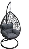 Hangstoel Egg Chair Paris Rope Antraciet
