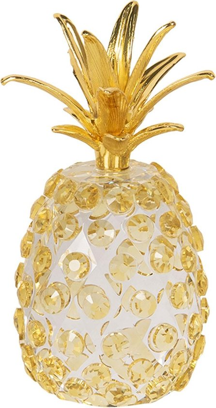 Bol Com Clayre Eef Decoratie Ananas Cc6gl0014 5 12 Cm Transparant Glas Decoratief Figuur