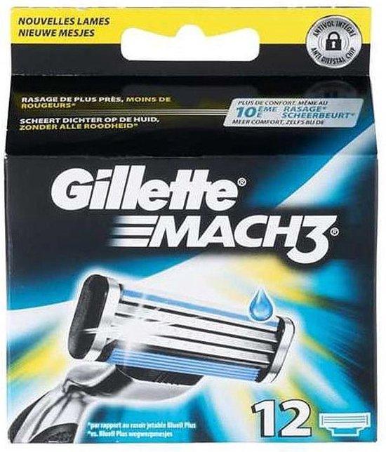 Gillette Mach 3 Scheermesjes 12st