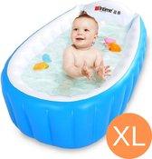 Opblaasbaar Badje - Babybad - Badkuip - Tummy Tub - Buitenbad - Opvouwbaar Bad - Kinderbadje - Opblaasbaar Bad Zitje - Tummy Time - Bad Emmer - Repair Kit - Blauw