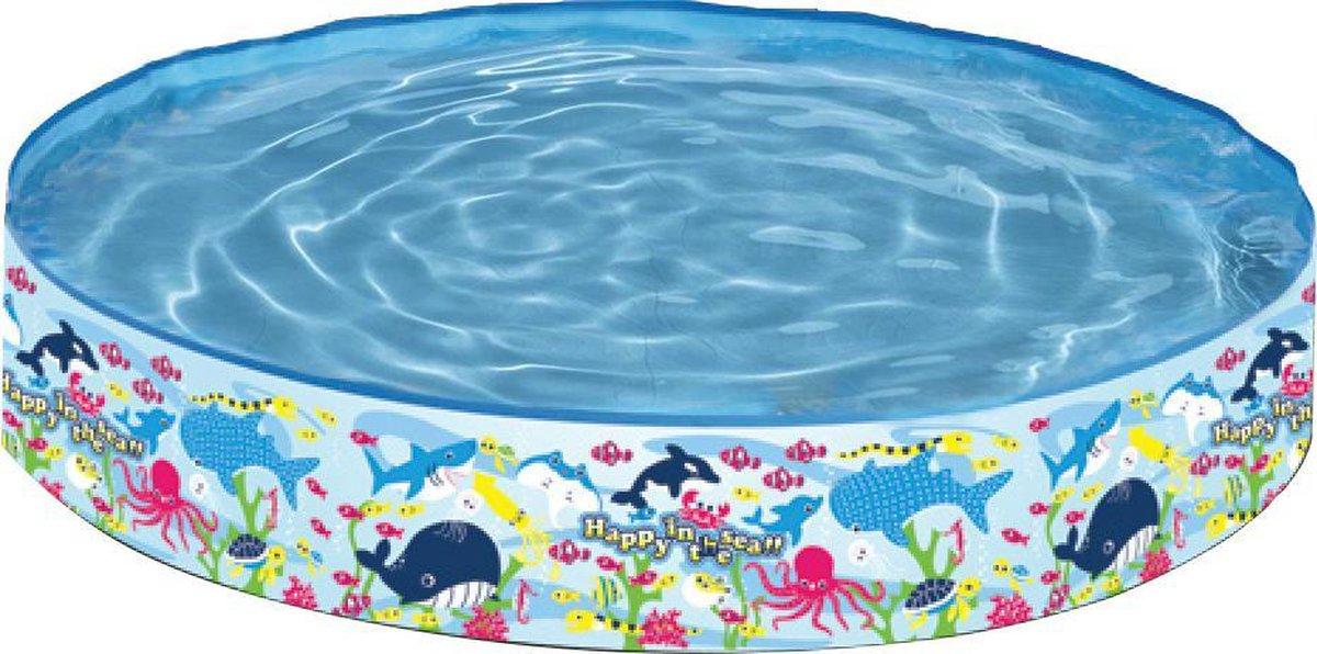 Kinder Opzetzwembad Walvis Rond - 150x25cm - Opzetzwembad voor kinderen - Walvis print opzetzwembad - Rond opzetzwembad