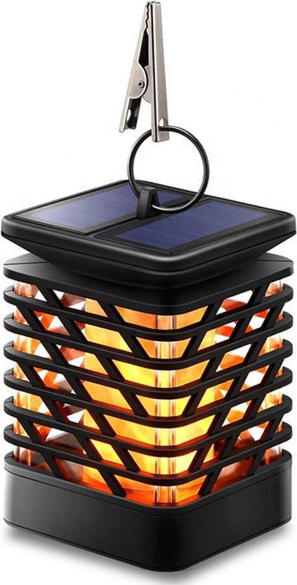 UROOGDS® Solar Tuinverlichting - Tuinlantaarns - Tuinlamp - Tuinverlichting op zonneenergie - Tuinverlichting led buiten Zwart