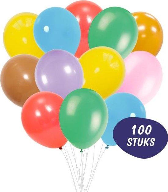 Ballonnenset 100 Stuks - Latex Gekleurde Ballonnen Gemengd
