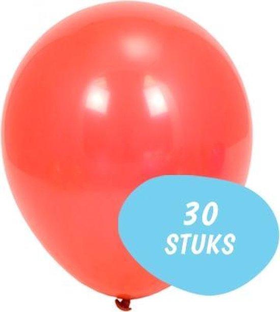 Ballonnenset 30 Stuks - Latex Gekleurde Ballonnen Rood
